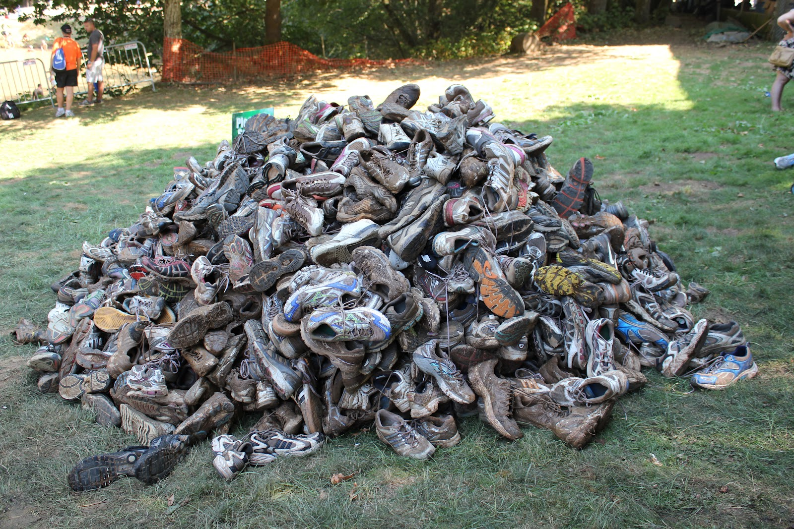 Pile Of Bodies : Running shoes more than